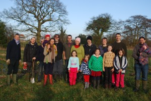 A group of our members after the social area planting work day