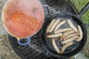 sausage-beans